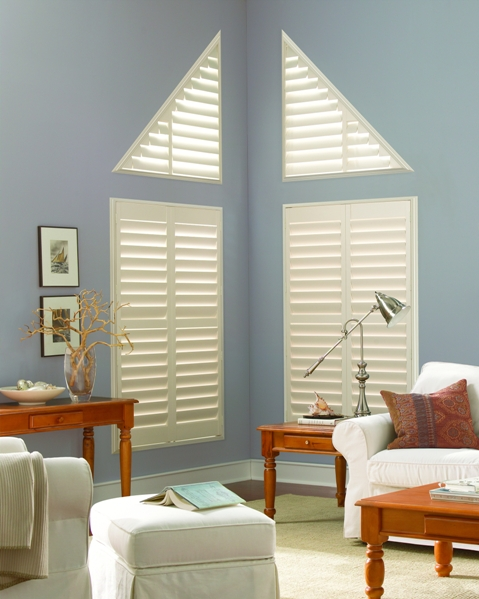 Call Blind Magic for Angled Polysatin Vinyl Shutters in North Highlands, CA